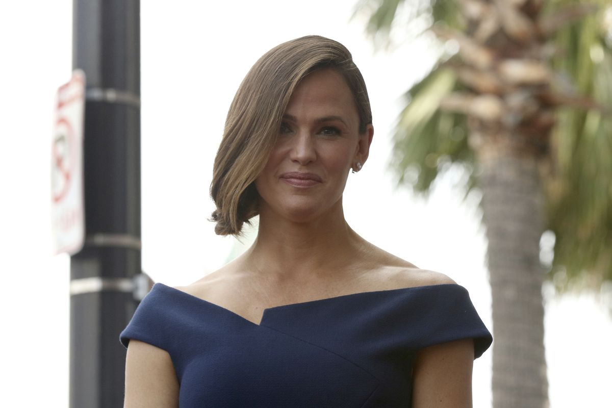 Jennifer Garner attends the ceremony honoring her with a star at the Hollywood Walk of Fame on Monday, Aug. 20, 2018, in Los Angeles.
