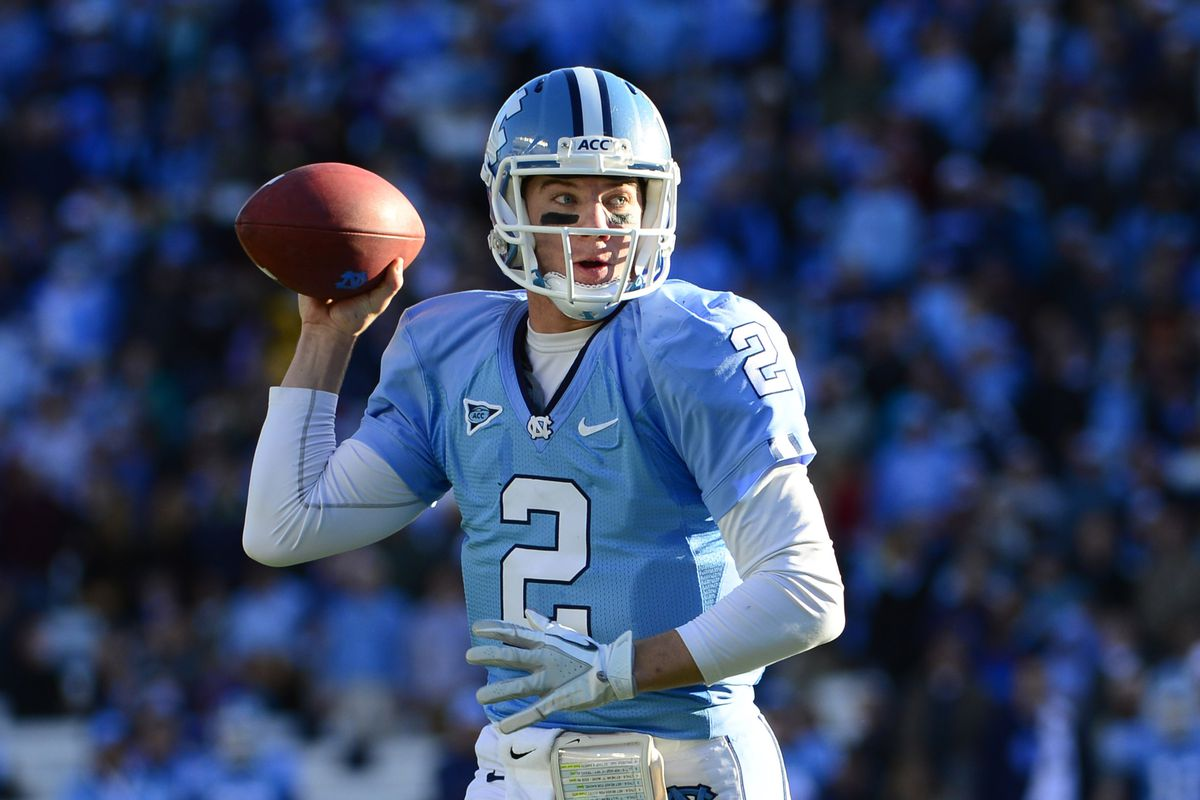 Bryn Renner will look to lead the Tar Heels to an upset victory of the Gamecocks on Thursday night.