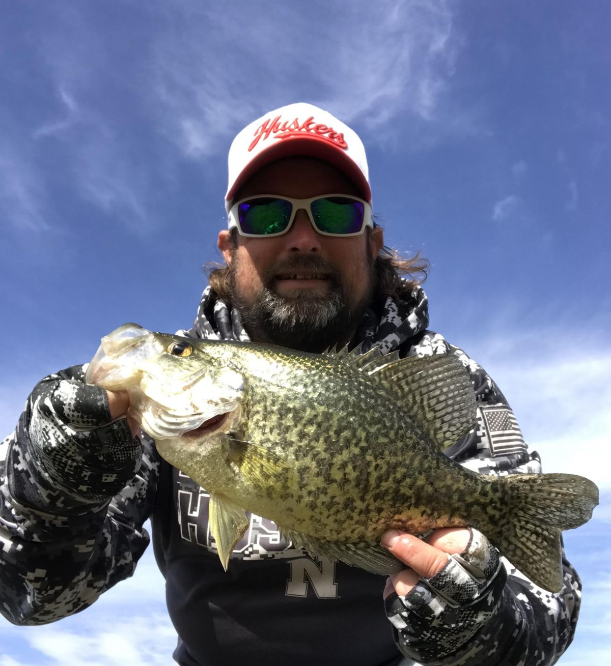 """Ken """"Husker"""" O'Malley with a nice fall crappie. Provided photo"""
