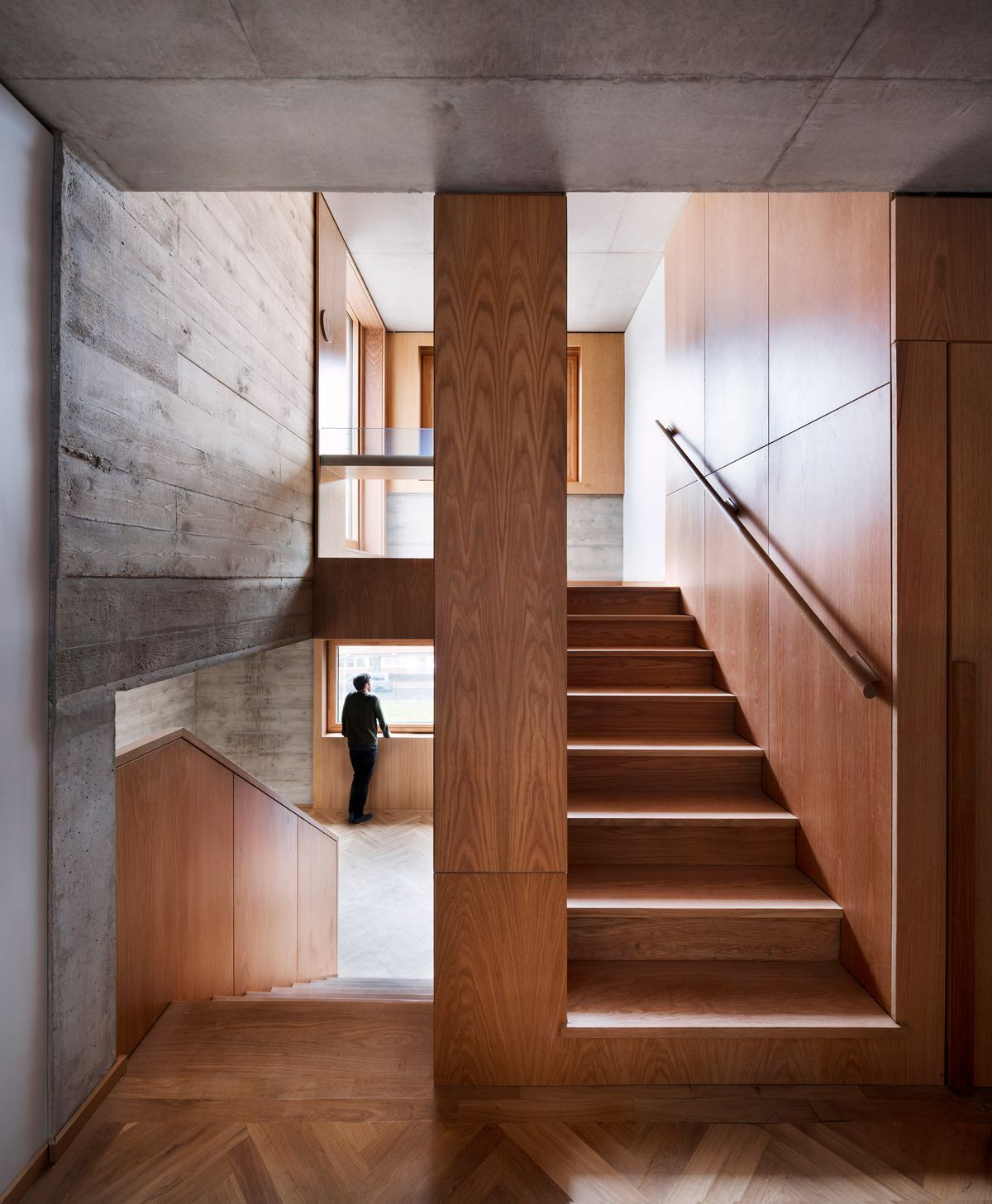 Interior shot of stairs and landing