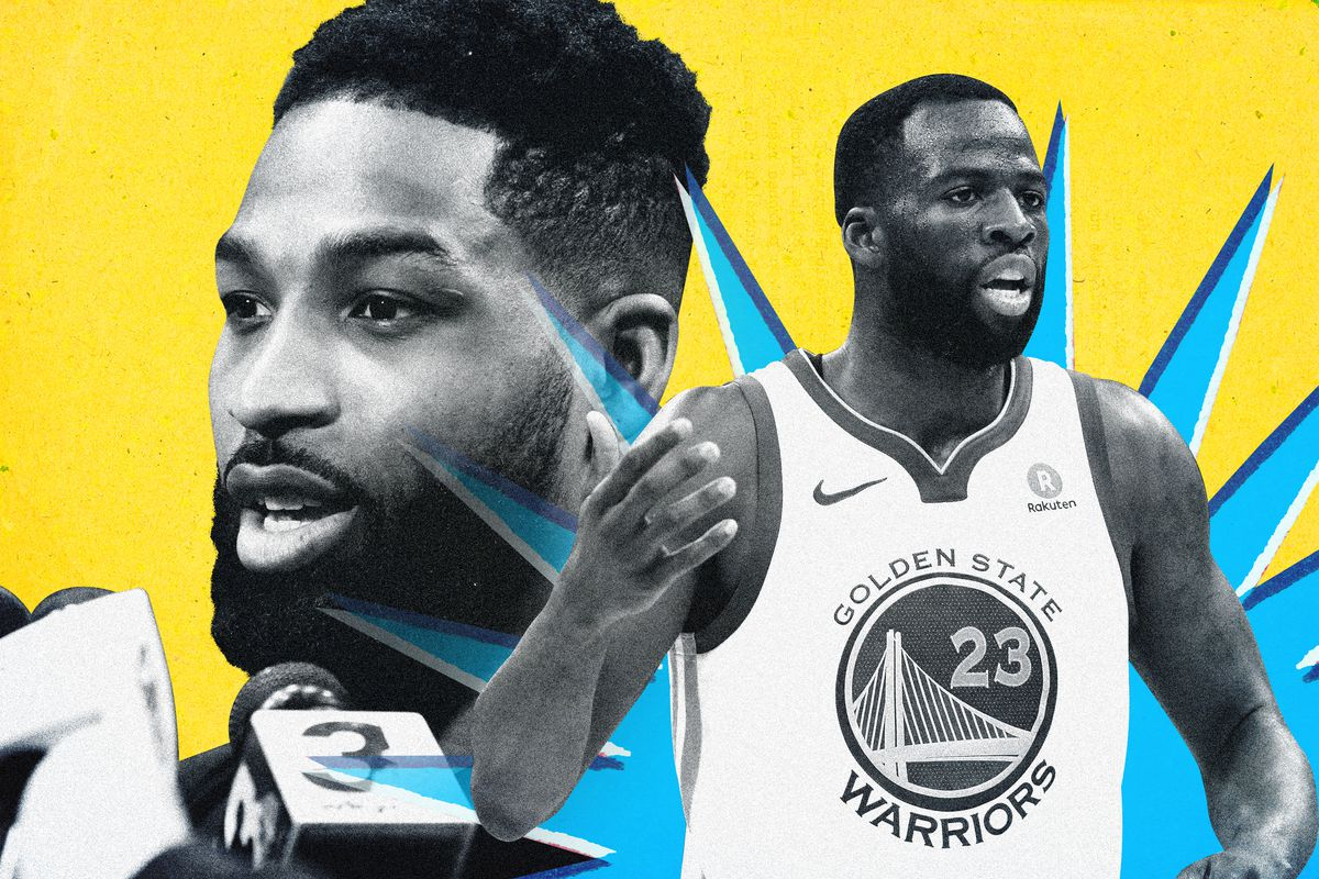 A photo illustration of Tristan Thompson and Draymond Green