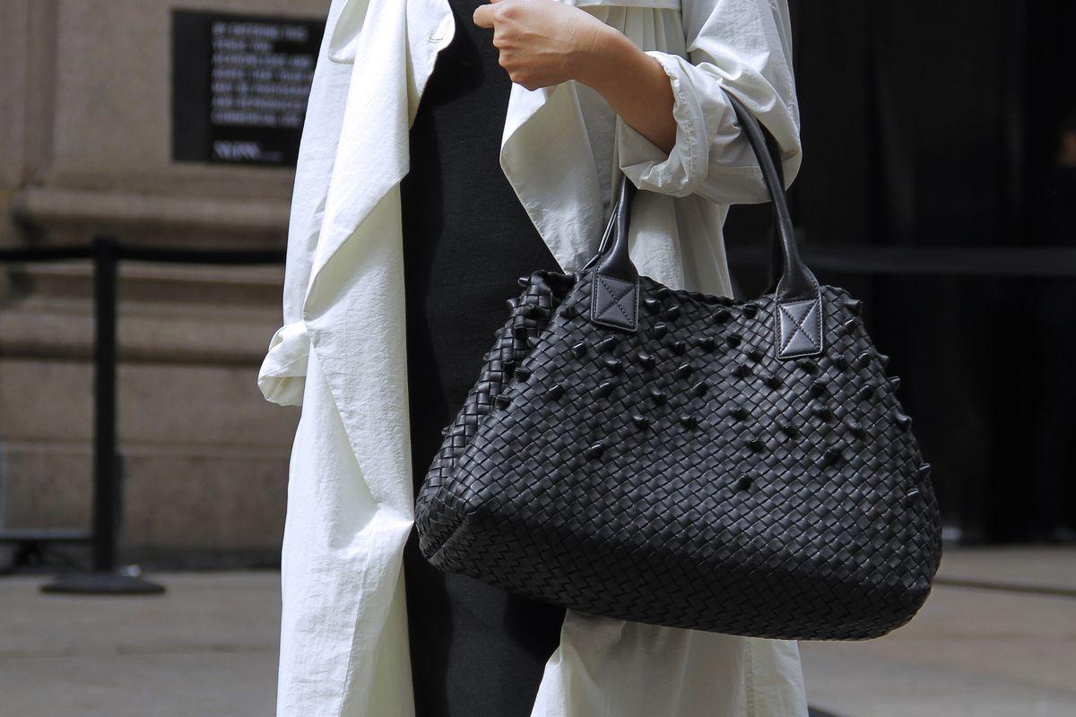 A Bottega Veneta bag spotted at NYFW in September