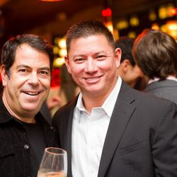 Steve Fried and Best Chef NYC nominee Shaun Hergatt.