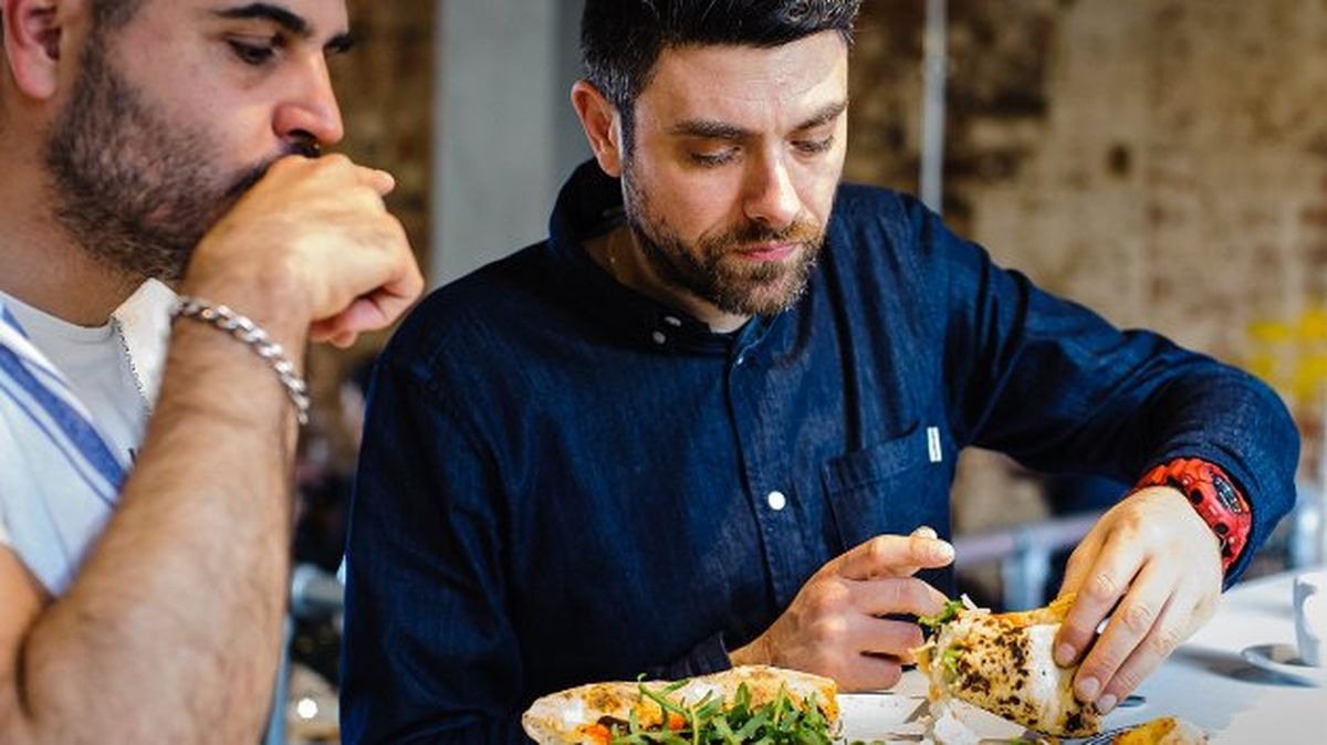 Angelo Ambrosio andPasqualeChionchio of Santa Maria one of London's best pizzerias