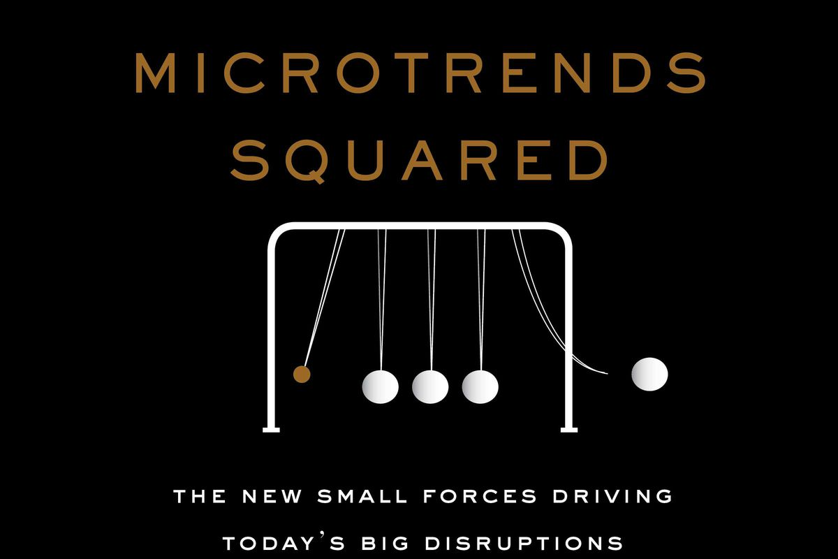 """The book cover of """"Microtrends Squared: The new small forces driving today's big disruptions"""" by Mark Penn"""