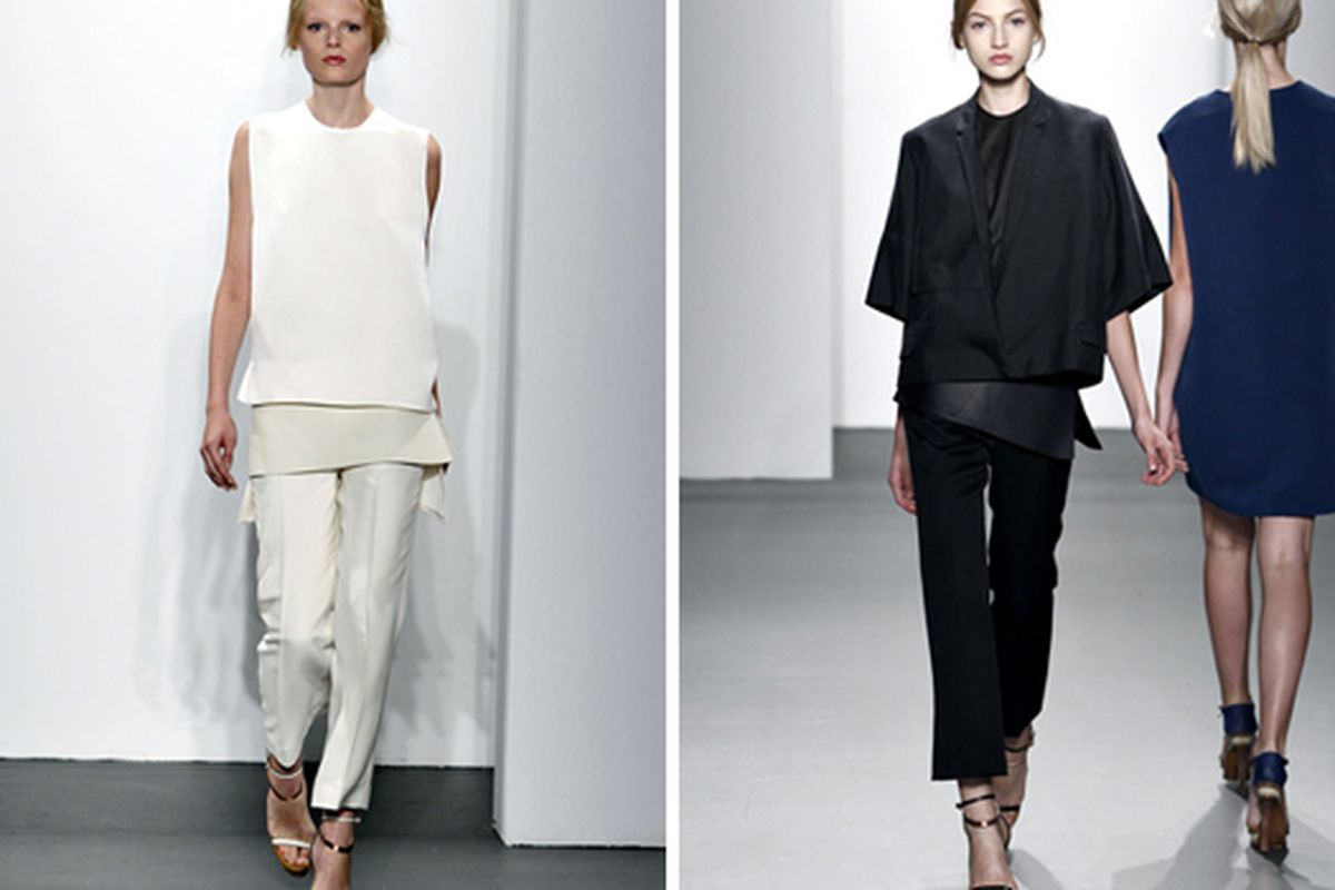 """Very important pants at Calvin Klein Collection via <a href=""""http://www.style.com/fashionshows/review/S2011RTW-CKLEIN"""">Style.com</a>"""