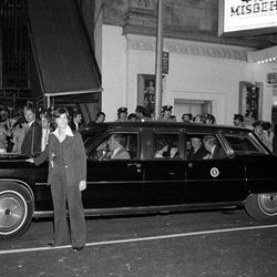 """FILE - In this Aug. 8, 1978 file photo, a female Secret Service agent leads the presidential limousine carrying President Jimmy Carter and his party from the Longacre Theater in New York after he saw the Broadway show, """"Ain't Misbehavin."""" The Secret Service has been tarnished by a prostitution scandal that erupted April 13, 2012 in Colombia involving 12 Secret Service agents, officers and supervisors and 12 more enlisted military personnel ahead of President Barack Obama's visit there for the Summit of the Americas."""