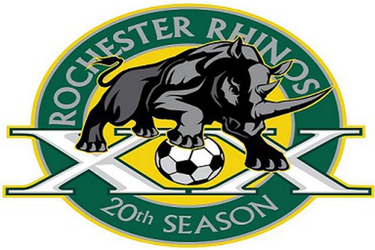 Rochester Rhinos' special 20th anniversary logo