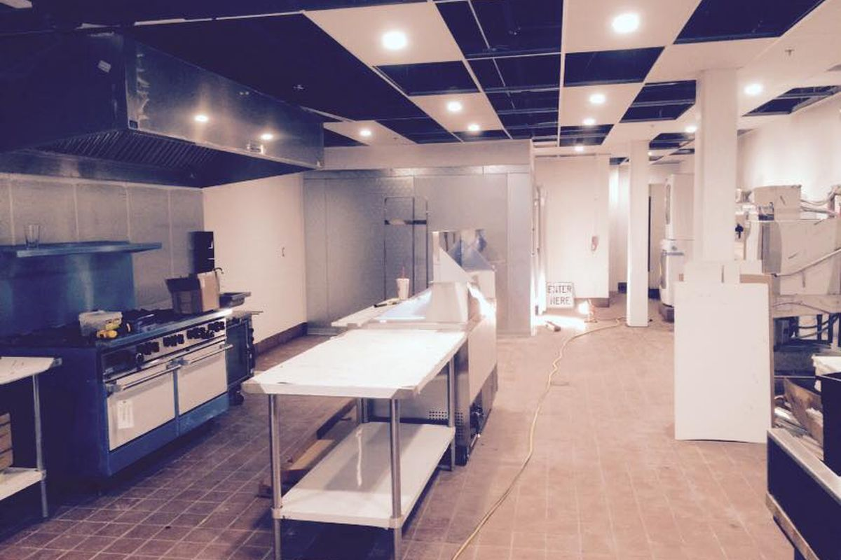 The kitchen at Bambolina, under construction in May