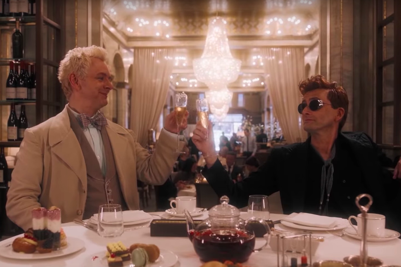 neil gaiman on adapting his and terry pratchett s good omens for tv