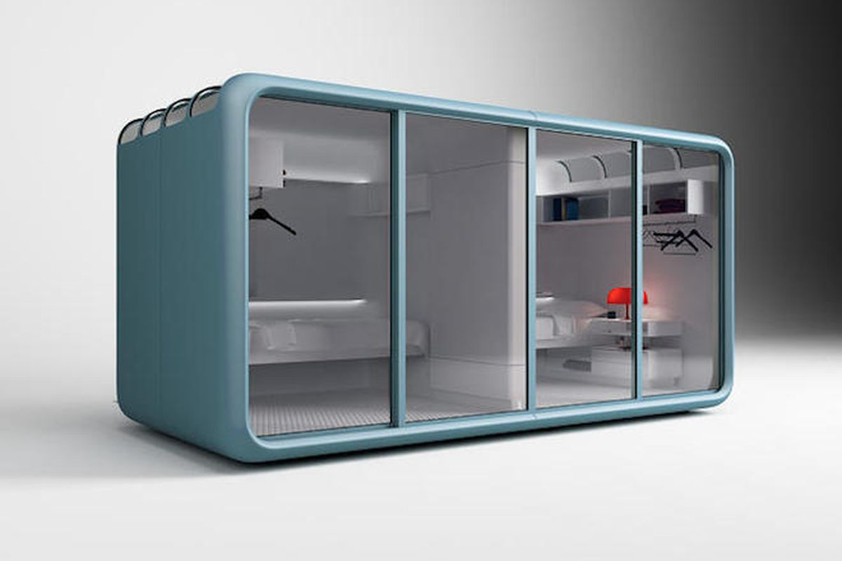 these sleeping pods make it easy to live at work curbed. Black Bedroom Furniture Sets. Home Design Ideas