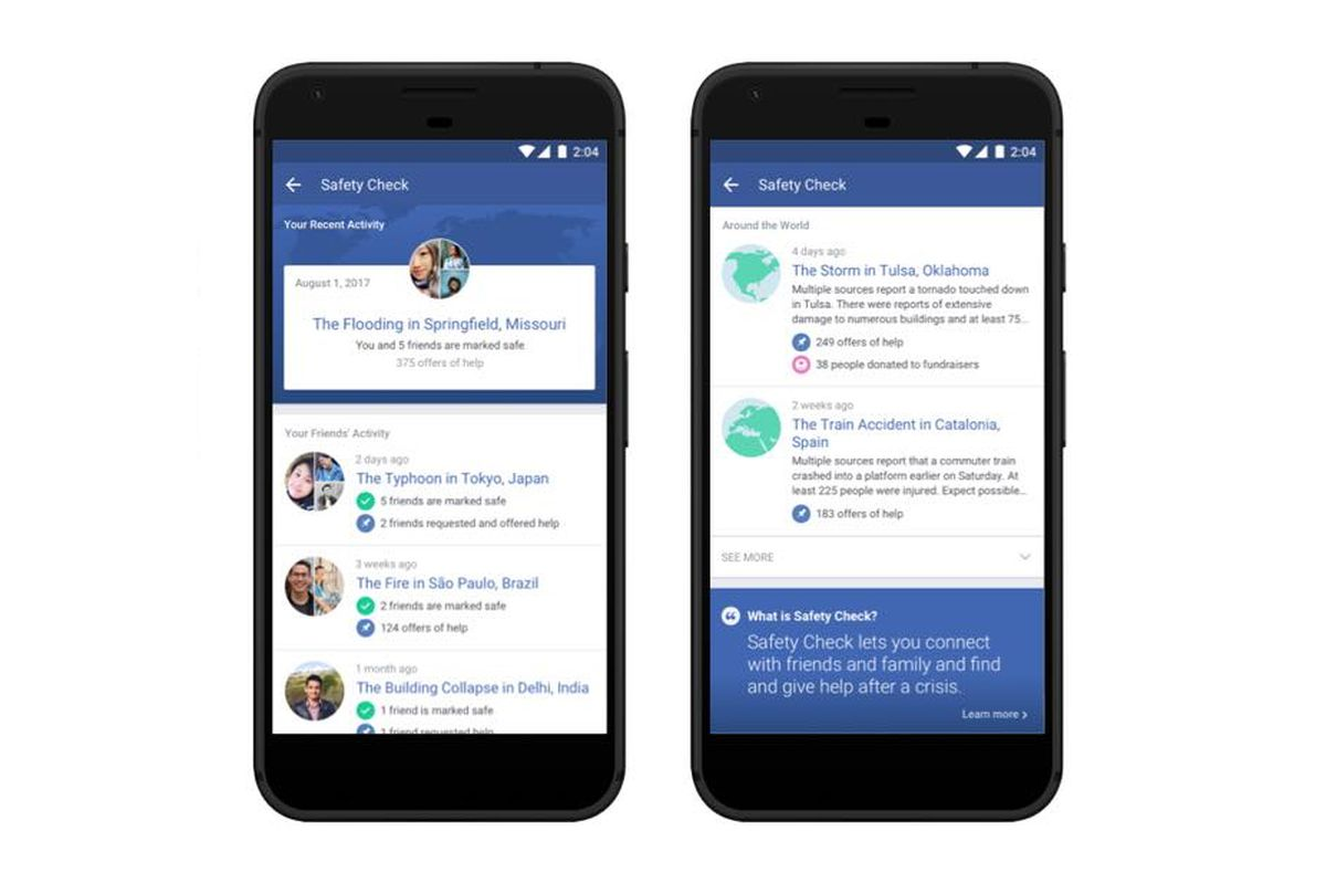 Facebook launched a dedicated tab for Safety Check - The Verge