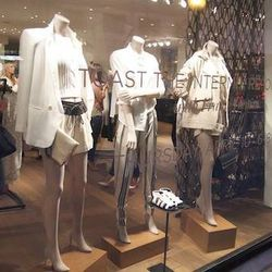 The new mannequins are in poses inspired by street-style snaps.