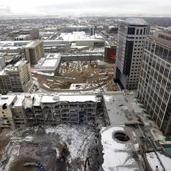 City Creek construction and Demolition January 8, 2008.