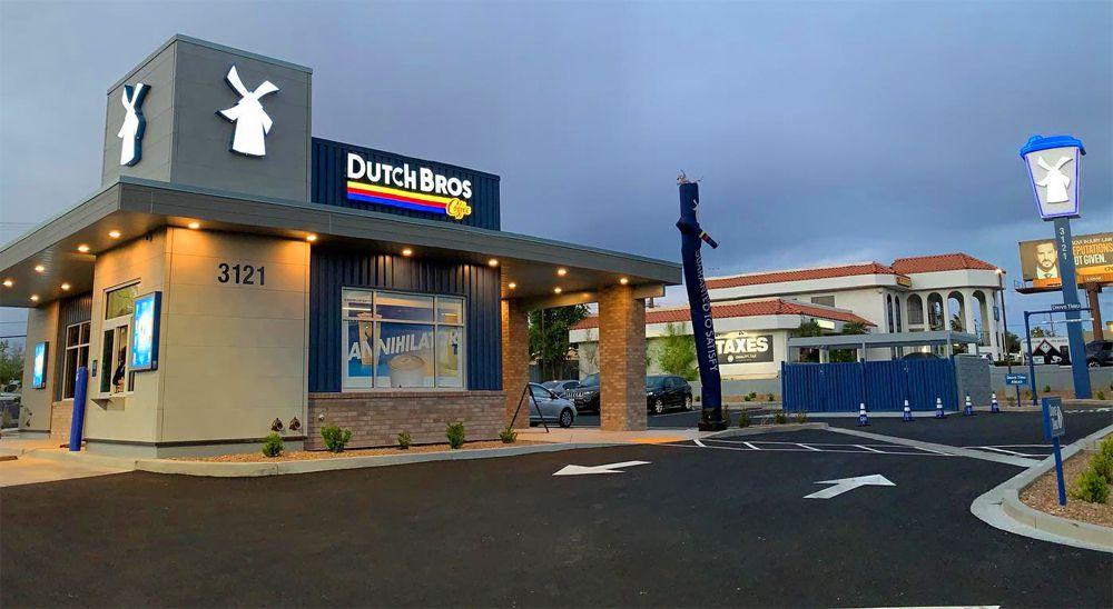 The Sahara Avenue location and drive-thru of Dutch Bros Coffee.