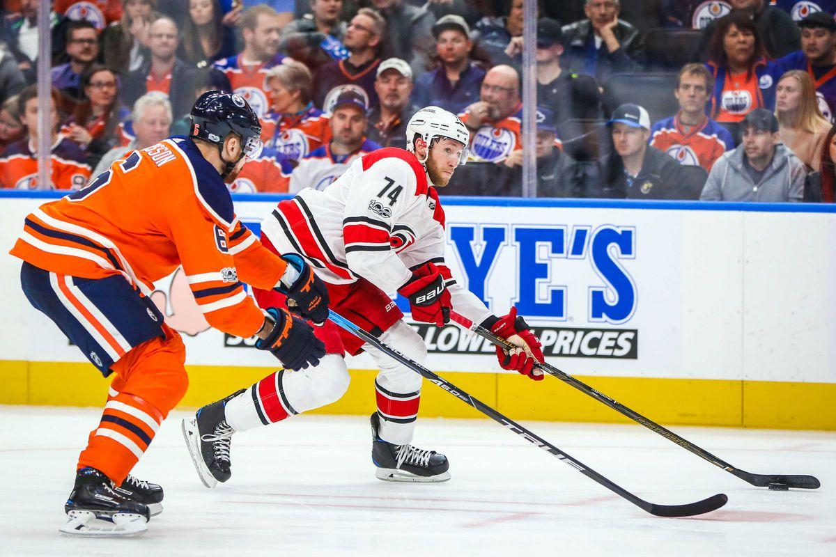 NHL: Carolina Hurricanes at Edmonton Oilers