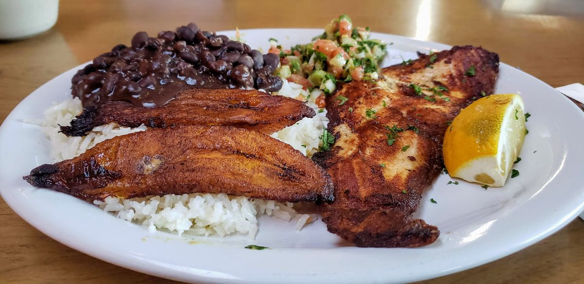 Grilled fish plate at Cafe Brasil