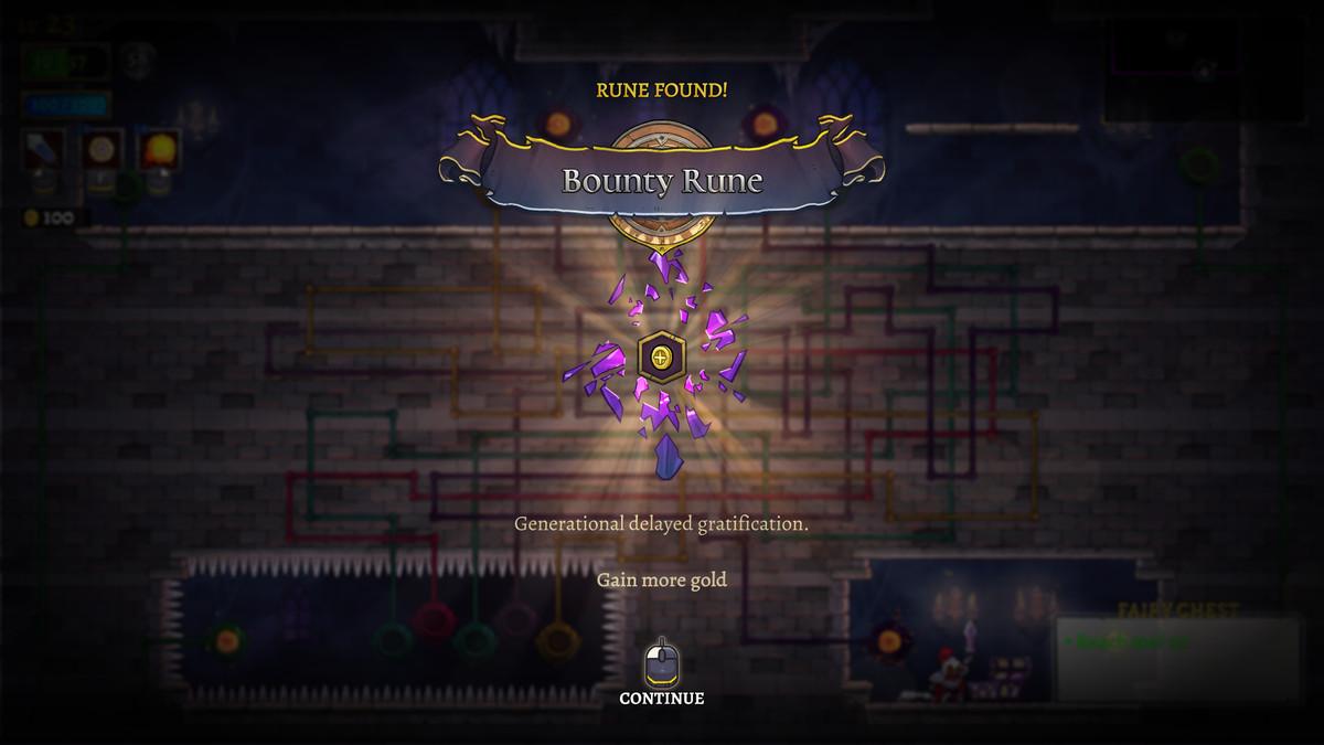 A Bounty Rune in Rogue Legacy 2