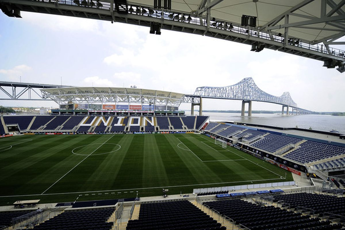 CHESTER, PA - JUNE 27:  A general view of the PPL Park before the Philadelphia Union face the Seattle Sounders FC at the PPL Park stadium opener on June 27, 2010 in Chester, Pennsylvania.  (Photo by Jeff Zelevansky/Getty Images)