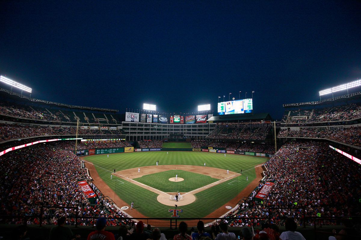 ARLINGTON, TX - JUNE 06:  The Texas Rangers take on the Detroit Tigers at Rangers Ballpark in Arlington on June 6, 2011 in Arlington, Texas.  (Photo by Tom Pennington/Getty Images)