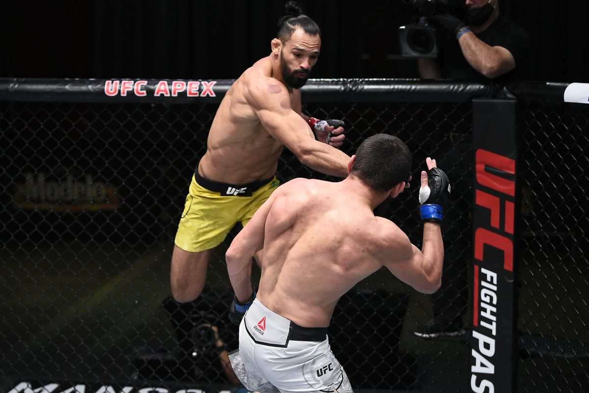 Michel Pereira submission win over Zelim Imadaev