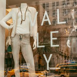 """<b>↑</b>Owners Jackie Brookstein and Kim Carton opened instant hotspot <a href=""""http://www.valleytribeca.com/""""><b>Valley</b></a> (393 Greenwich Street), to make trends and designer fashion accessible to every age group and lifestyle. Workout wear, downtow"""