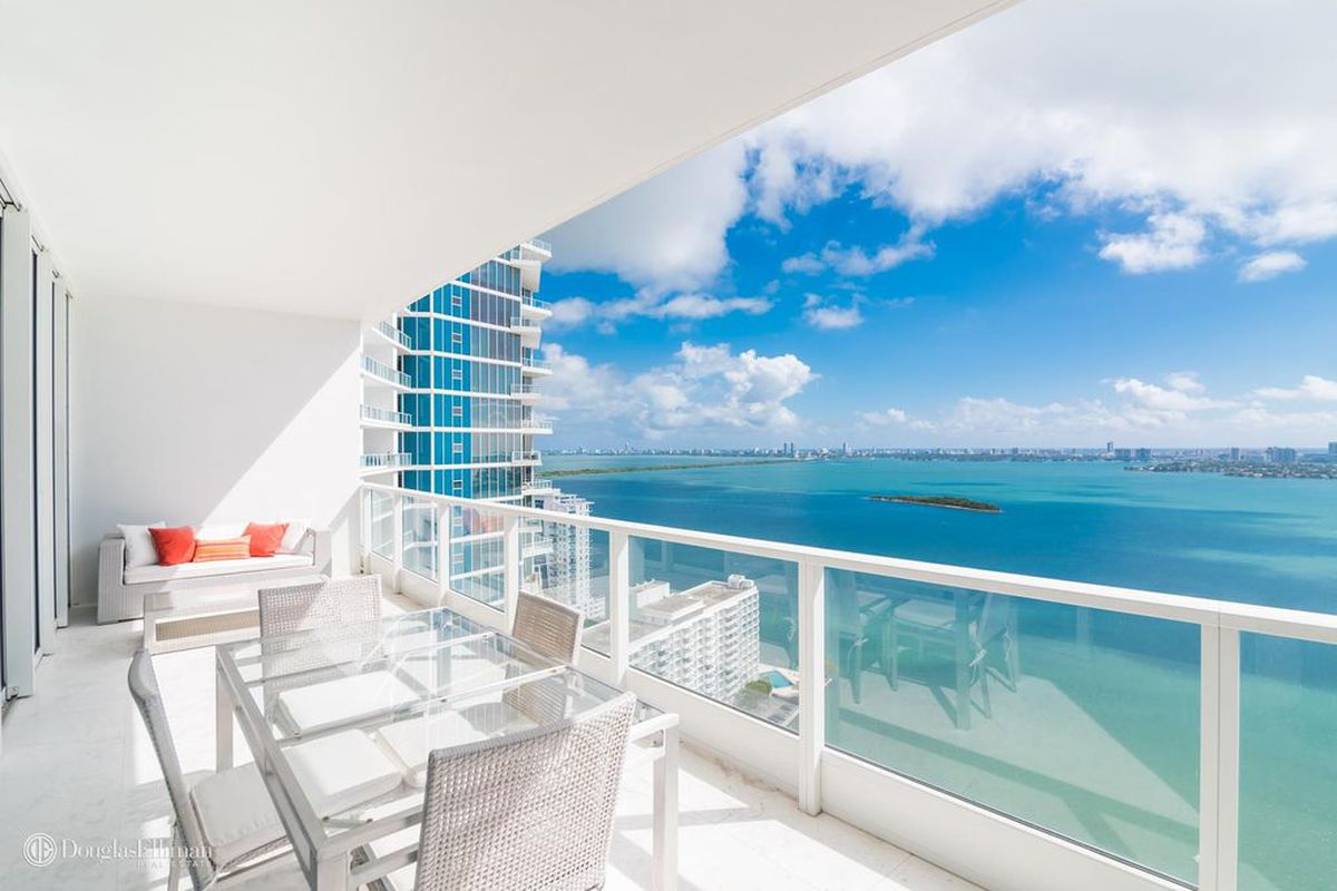 A bayfront view at a miami condo in edgewater