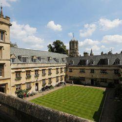 Pembroke College, Oxford University, England, on June 14, 2017.