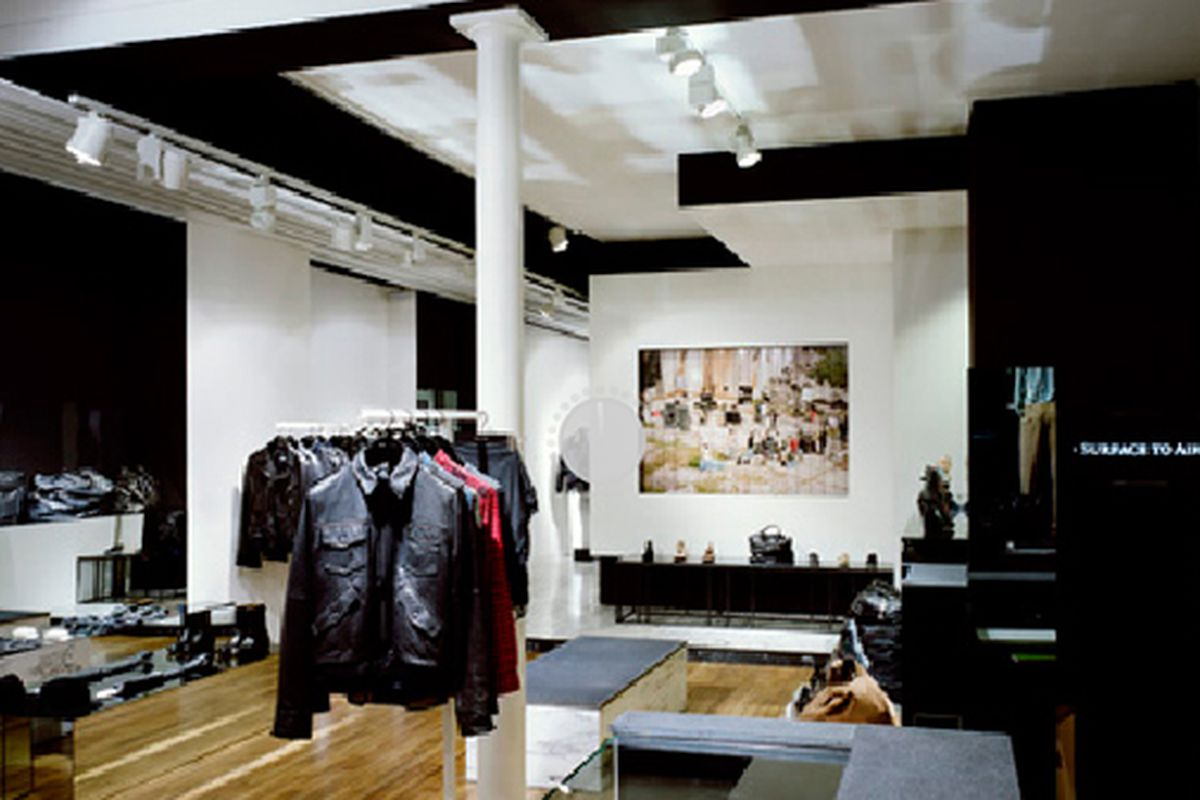 """Inside the Parisian flagship via <a href=""""http://www.surfacetoair.com/store-us/?pg=stores&amp;action=stores"""">Surface to Air</a>"""