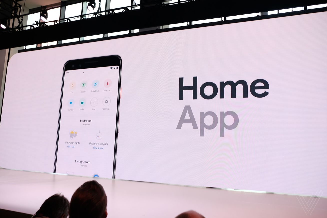 google s home app gets much better design and can now control smart devices remotely