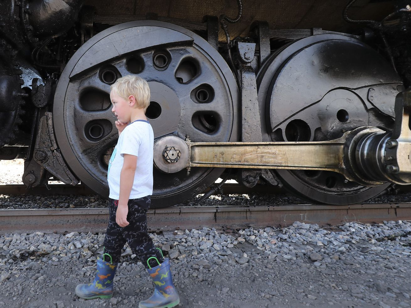 Photos: Train buffs get another chance to check out Union Pacific's Big Boy steam engine
