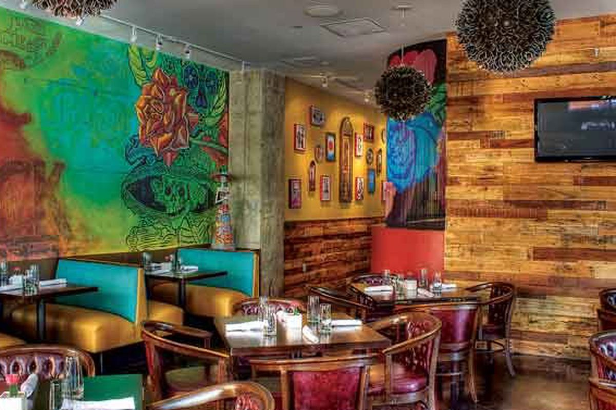 Now you can sip margaritas in these Dia de los Muertos-inspired interiors without driving Downtown.