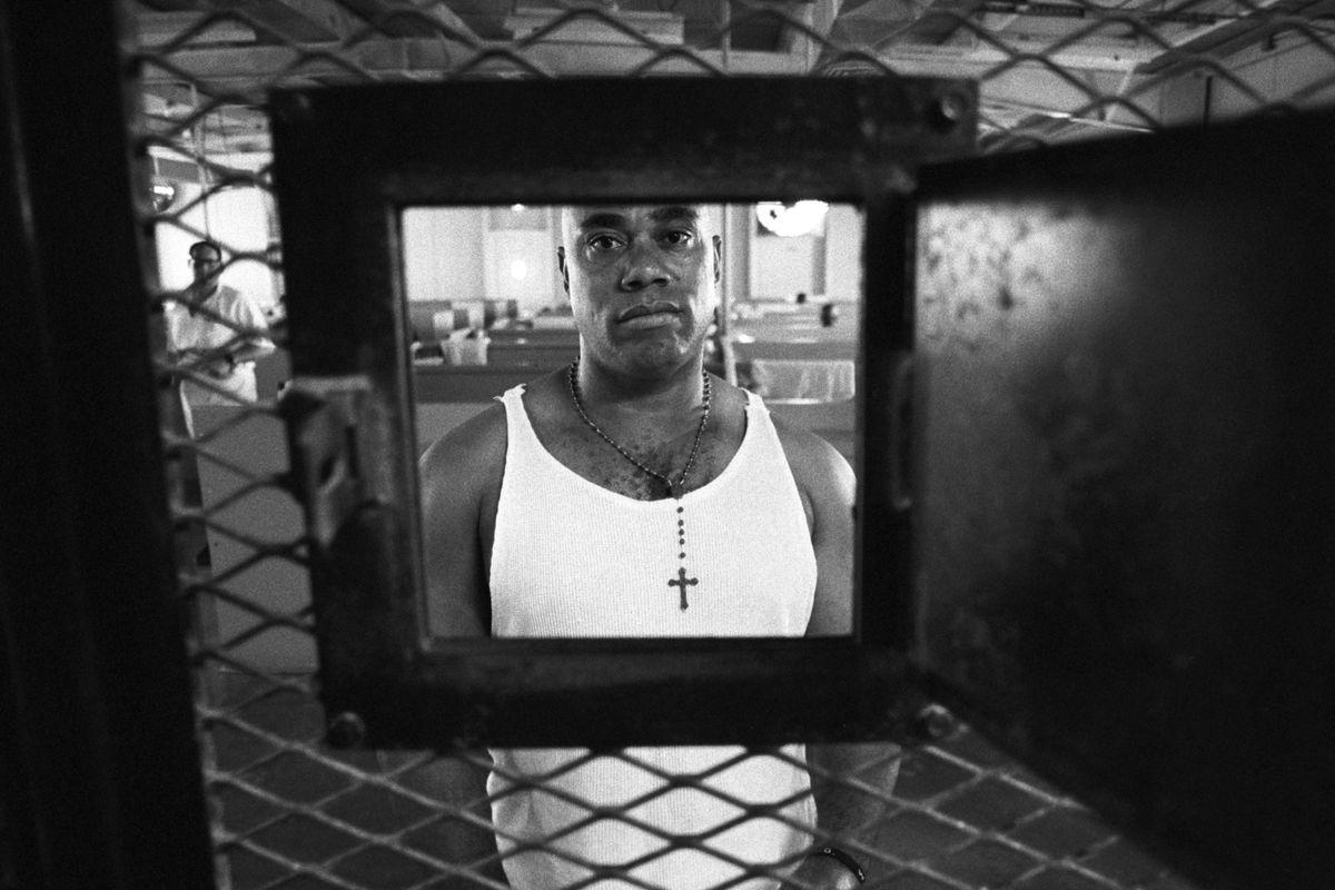A man in a Texas prison, 2000.