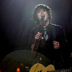 Green Day's Billie Joe Armstrong performs at EnergySolutions Arena in Salt Lake City Sunday.
