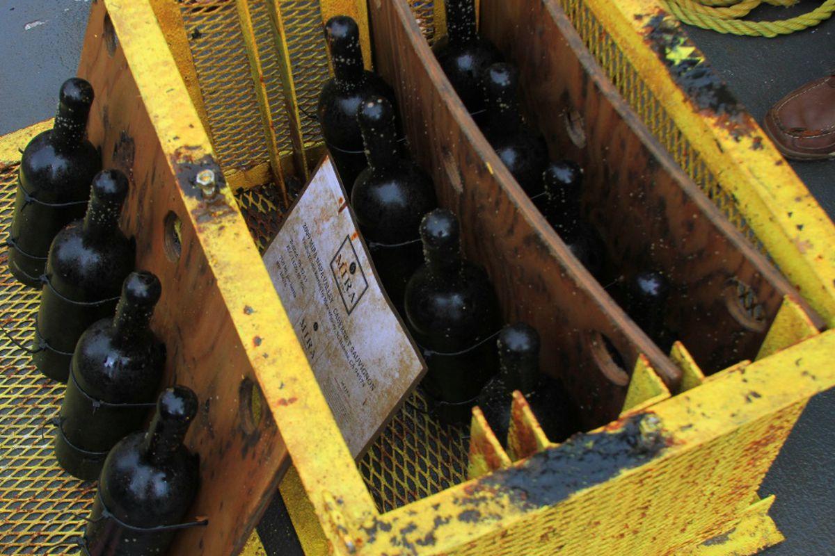 Mira wine retrieved from the ocean.
