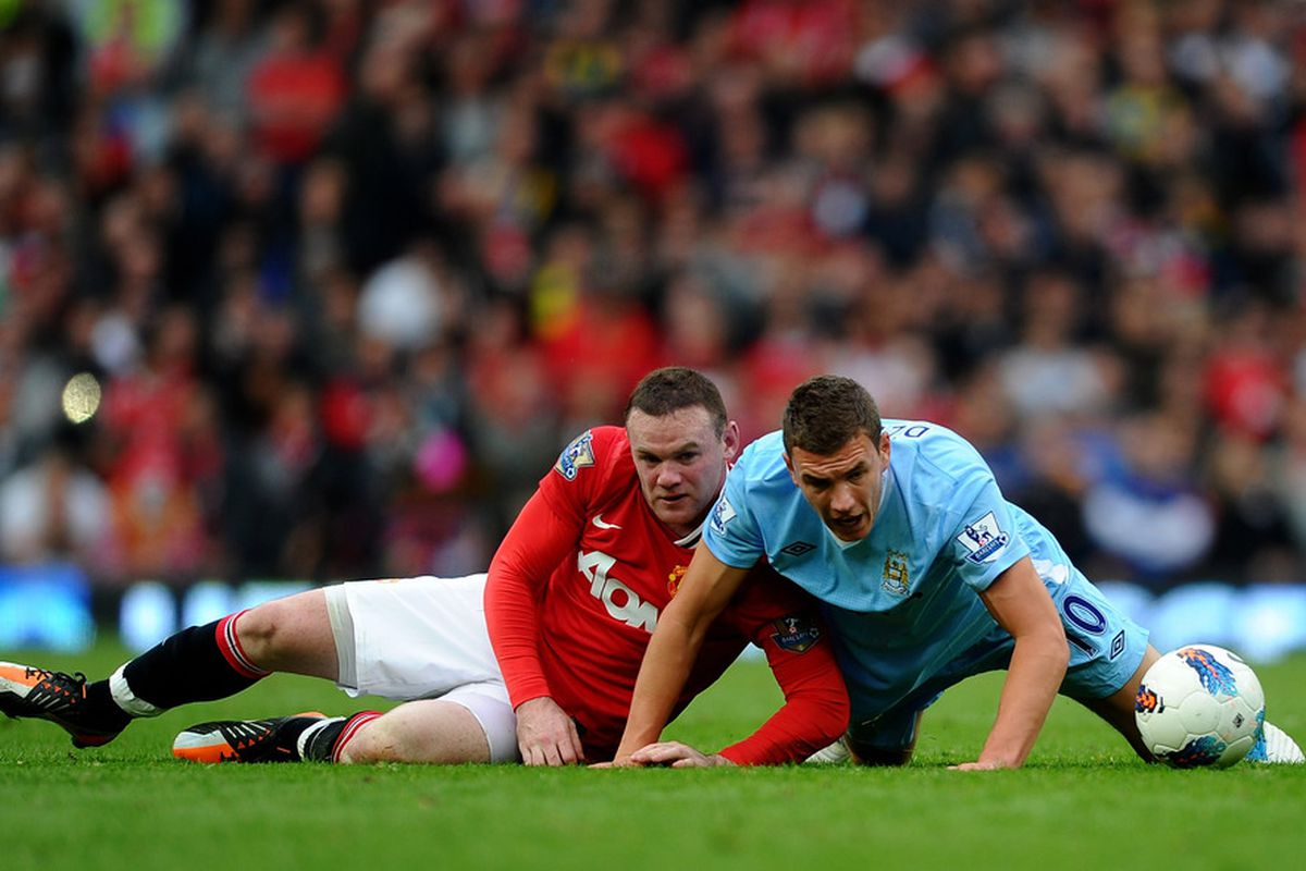 Wayne Rooney and Edin Dzeko are the top scorers for the Premier League's top two sides.