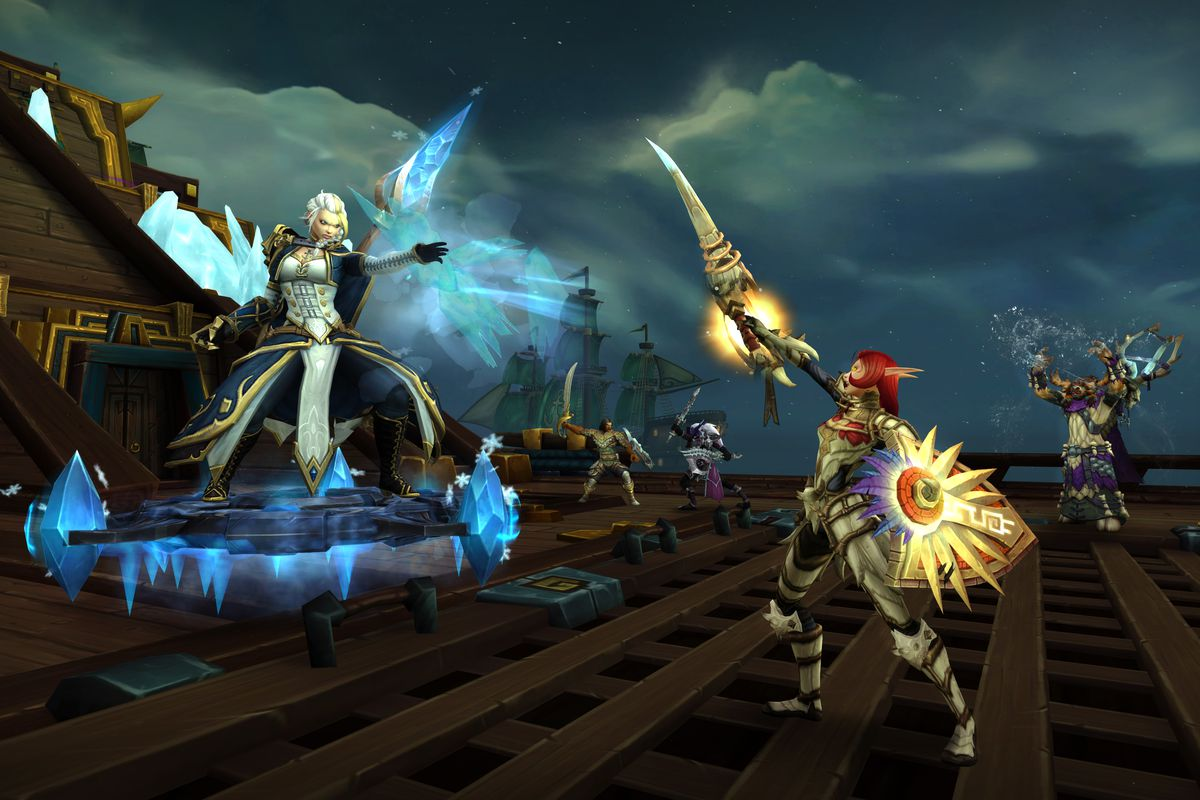 World of Warcraft - Raiders attack lady Jaina Proudmoore in the Battle for Dazar'Alor