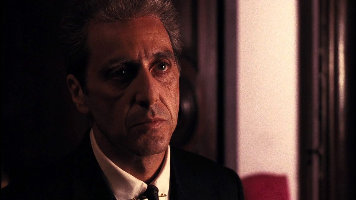 Al Pacino in close-up in The Godfather Part III