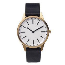 "<b><a href=""http://shophorne.com/251-series-wrist-watch-goldblack-uniform-wares-p-1455.html"">Horne</a></b> 251 series wrist watch in gold/black, $630"