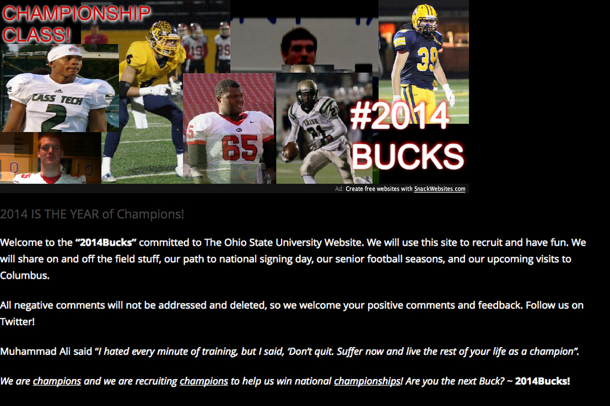 46a6d7e385b Ohio State recruiting: State Secrets, 4/18 - The class of 2014 wants to  introduce you to 2014bucks.com