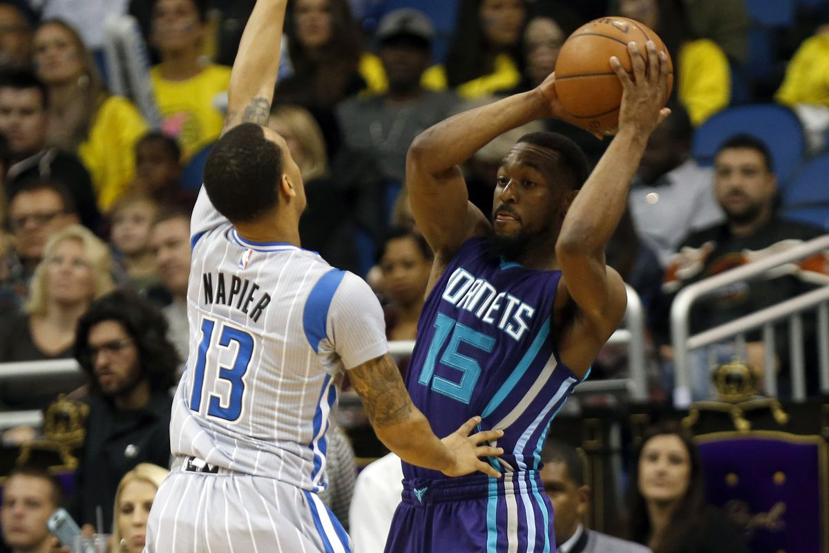 Former UConn point guards Shabazz Napier and Kemba Walker face each other in NBA action.