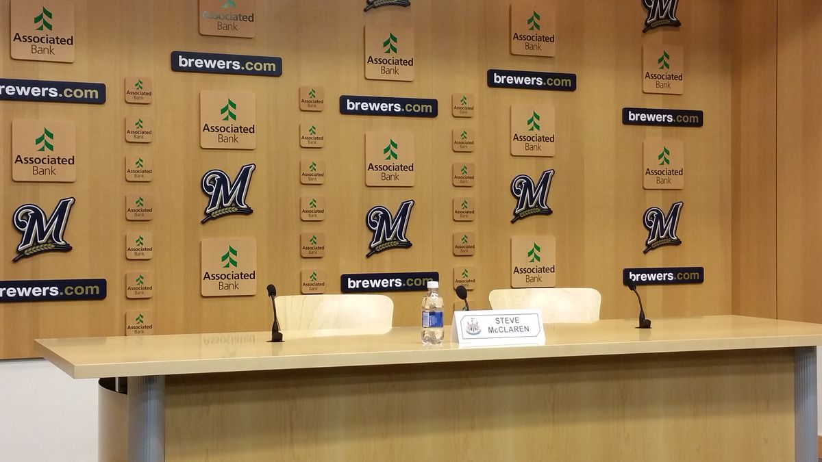 The Milwaukee Brewers interview room waited for Steve McClaren, but he never showed...
