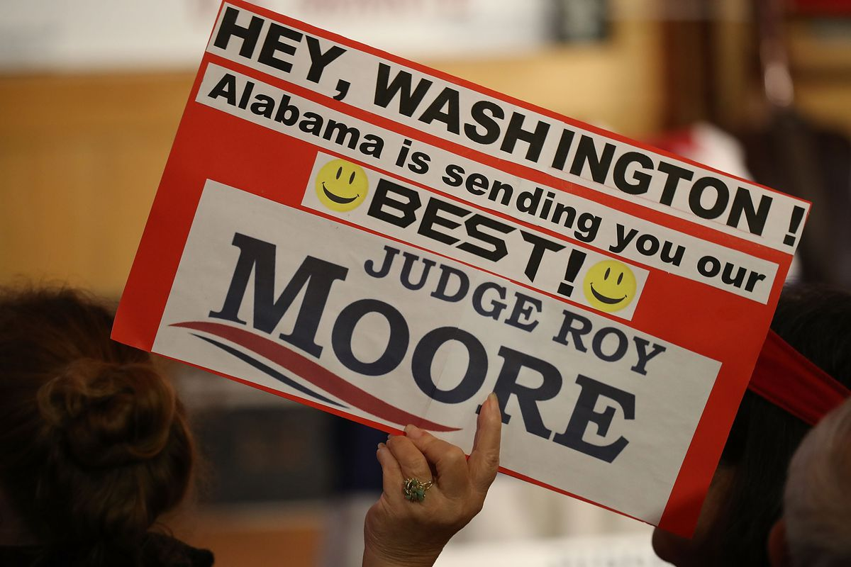 Steve Bannon Joins Alabama Senate Candidate Roy Moore At Campaign Rally