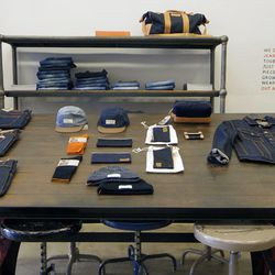 Selvedge denim accessories will also be offered at the Downtown shop.