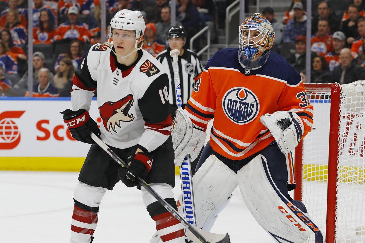 NHL: Arizona Coyotes at Edmonton Oilers