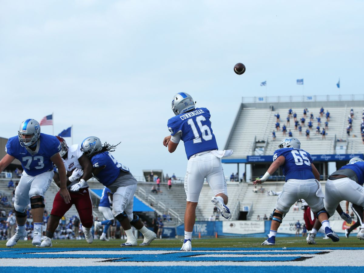 COLLEGE FOOTBALL: SEP 19 Troy at Middle Tennessee