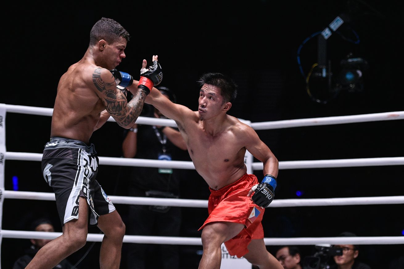 Geje Eustaquio (right) and Adriano Moraes will meet for a third time later this month.