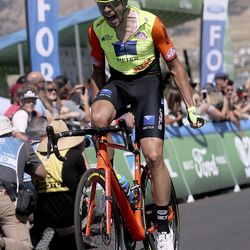 Umberto Marengo wins Stage 1 of the Tour of Utah in North Logan on Tuesday, Aug. 13, 2019.