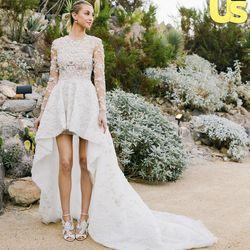 Reality star-turned-designer Whitney Port married Tom Rosenman in a high-low Ashi Studio dress on November 7th, 2015.