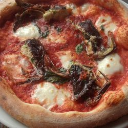 Soft-shell crab pizza